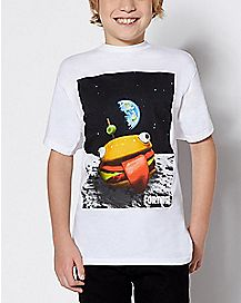Kids Space Durrr Burger T Shirt - Fortnite