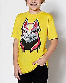Kids Drift T Shirt - Fortnite