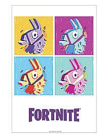 Square Loot Llama Poster - Fortnite