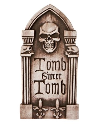 16 Inch Tomb Sweet Tomb Tombstone - Decorations by Spencer's