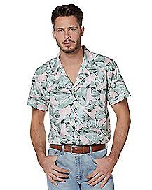 Hopper Button Down Shirt - Stranger Things