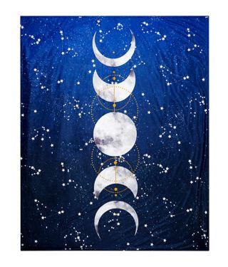 Tarot Moonphase Fleece Blanket