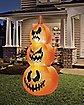 4 Ft LED Pumpkin Stack Inflatable - Decorations