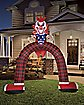 12 Ft LED Scary Clown Archway Inflatable - Decorations