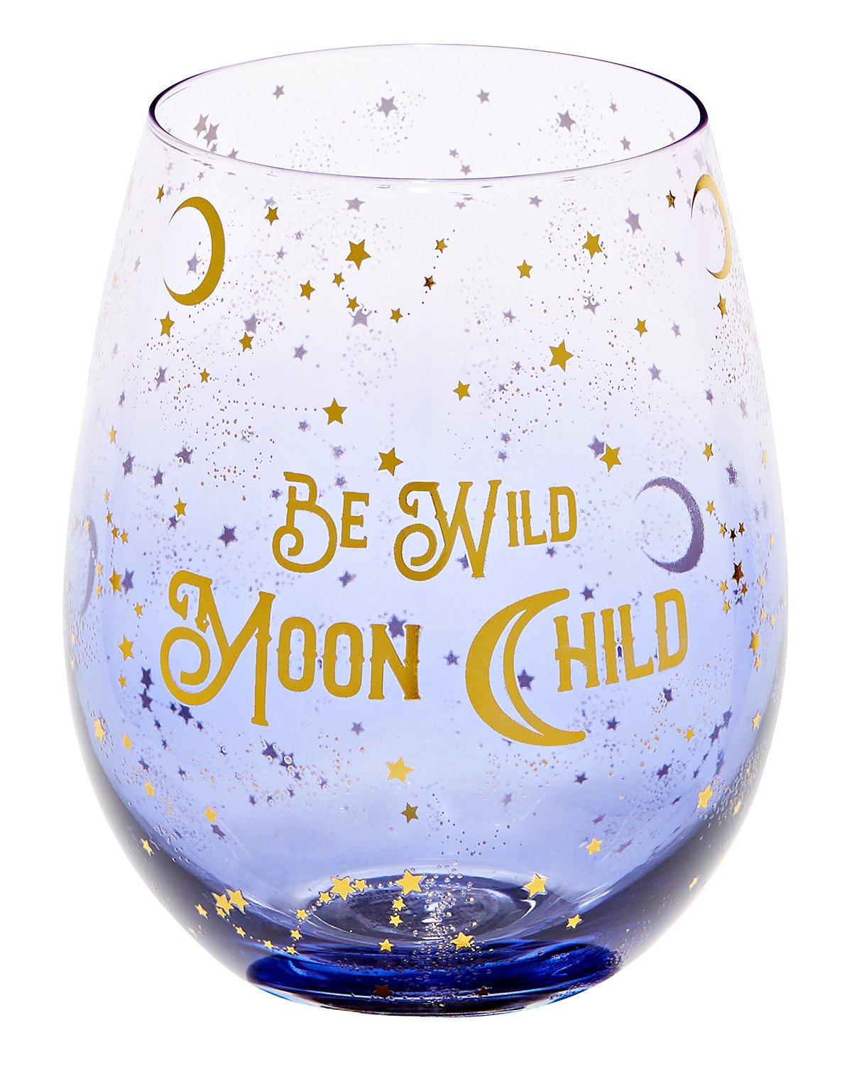 Be Wild Moon Child Wine Glass