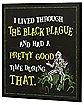 Black Plague Beetlejuice Sign