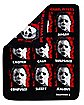 Faces of Michael Myers Fleece Blanket - Halloween