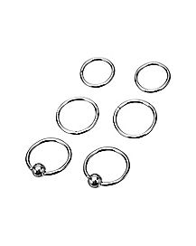 Captive Rings 6 Pack - 16 Gauge