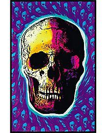 Skull Black Light Poster