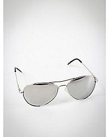 Aviator Sunglasses- Silvertone