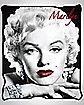 Marilyn Monroe Red Lips Fleece Blanket