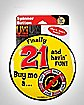 21 and Havin' Fun Spinner Game Pin