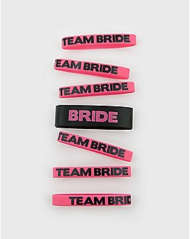 'Team Bride' Rubber Bracelets 7 Pk