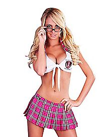 School Girl Skirt and Crop Top Set - Hustler