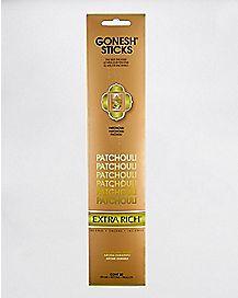 Gonesh Extra Rich Incense Sticks - Patchouli