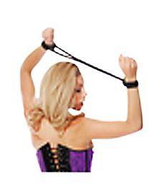Silk Rope Love Cuffs Black - Fetish Fantasy