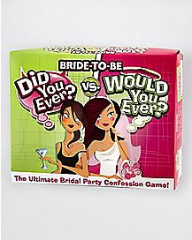 'Did You Ever vs. Would You Ever' Bride-to-Be Game