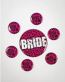 Bride's Crew Buttons