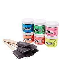 Liquid Latex Black Light Body Paint Kit 6 Pack