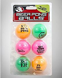 Beer Pong Balls Blacklight Responsive - 6 Pack
