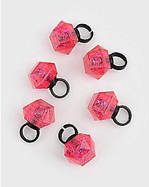 Flashing Bling Rings 6 Pack
