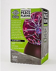 Sound Activated Peace Plasma Ball