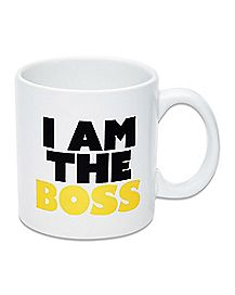 Oversized I Am the Boss Coffee Mug - 22 oz.