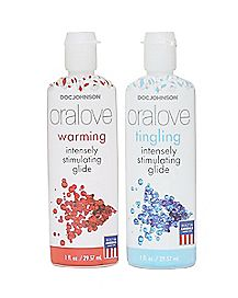 Oralove Dynamic Duo Warming And Tingling Water-Based Lube