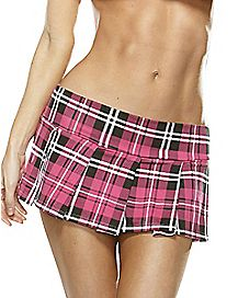 Plaid Skirt - Fuchsia