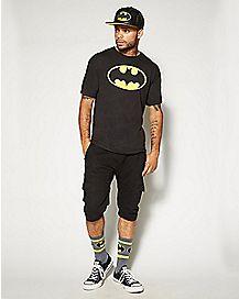 Batman Logo Pullover T Shirt - DC Comics