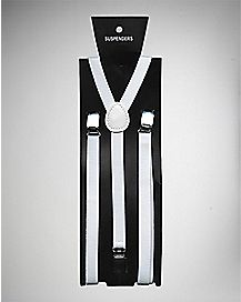 Narrow Suspenders- White