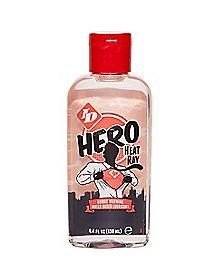 Hero Heat Ray Warming Water-Based Massage Lube - 4 oz.