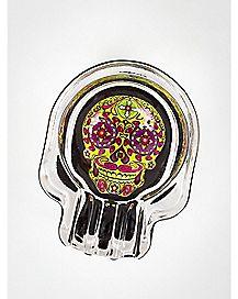 Candy Skull Shaped Ashtray - Glass