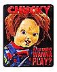 Hi, I'm Chucky Wanna Play? Chucky Fleece Blanket