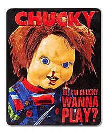 Hi, I'm Chucky Wanna Play? Chucky Fleece Blanket