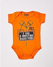 I Did 9 Months Hard Time Baby Bodysuit