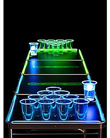 Glowing Beer Pong Table - 8 ft