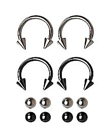 16 Gauge Black Horseshoe Set with Extra Balls