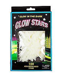 100 Piece White Glow in the Dark Stars