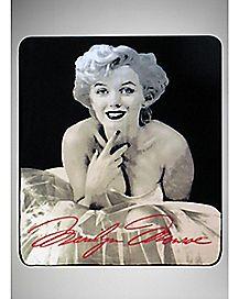White Dress Marilyn Monroe Fleece Blanket