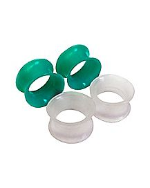 Glow in the Dark Tunnel Plugs - 2 Pair