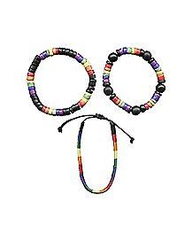Rainbow Bead Bracelet 3-Pack