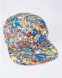 Allover Sublimated Pokemon Snapback Hat