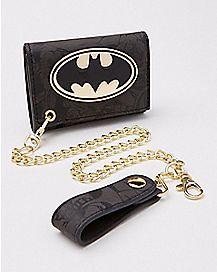 Batman Metal Badge Trifold Chain Wallet - DC Comics