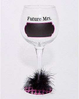 Future Mrs. Chalk Wine Glass