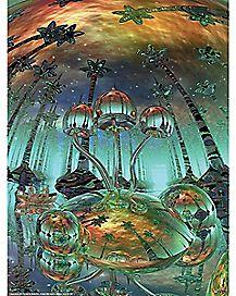 Liquid Mushrooms Poster