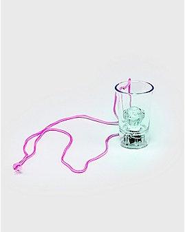 Light Up Diamond Shot Glass Necklace