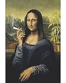 Pot Leaf Mona Lisa Poster
