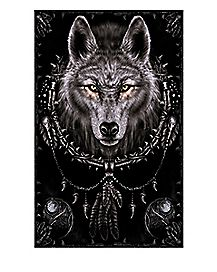 Dreams Spiral Wolf Poster