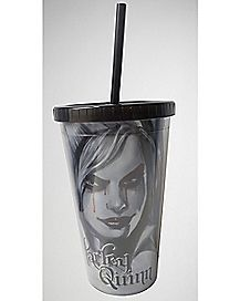 Harley Quinn Arkham Knight Cup with Straw -16